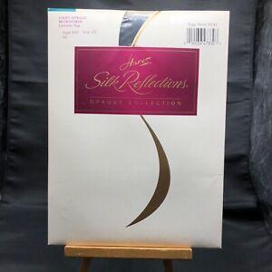 Hanes Silk Reflections Light Opaque Microfiber Control Top Size CD Jet Black