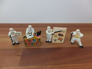 4 x Vintage KFC Kentucky Fried Chicken Colonel Sanders Figurines