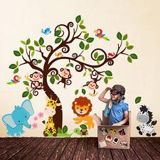 R00425 Wall Stickers Adesivi Murali Camerette Baby giungla sull'albero 160x140cm