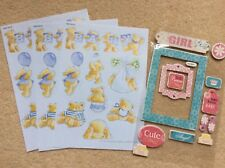 BABY Decoupage Papers - A5 size - Craft Supplies, New plus BABY GIRL tags
