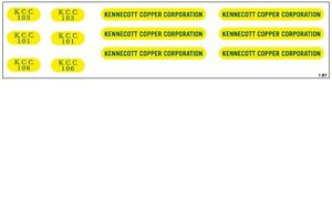 *NEW* HO scale Kennecott Copper SD40-2 decal set