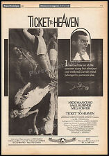 TICKET TO HEAVEN__Original 1981 Trade AD / poster__NICK MANCUSO_MEG FOSTER__cult