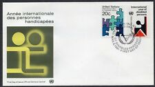 United Nations 1981 - New York - International Year of Disobled Persons - FDC