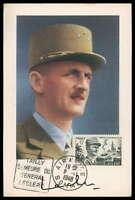 FRANCE MK 1948 LECLERC GENERAL MAXIMUMKARTE CARTE MAXIMUM CARD MC CM cn51
