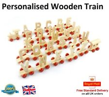 WOODEN TRAIN LETTER Personalise Your Own Name Toy Girls Boys Gift Present