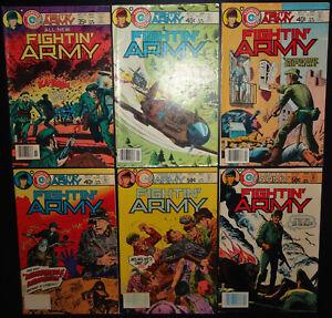 Fightin' Army #129, 143, 145, 146, 148, 154 1977-81 (7.0) 6-Iss lot Charlton War