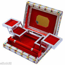 Gift for Her Colourful Silver Jewellery Box Case Watch Holder Storage Organiser