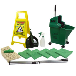SYR Lady Bug Mop Bucket Floor Cleaning Starter Kit - Green