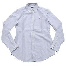 Polo Ralph Lauren Shirt Women Button Down Oxford New Custom Fit Long Sleeve