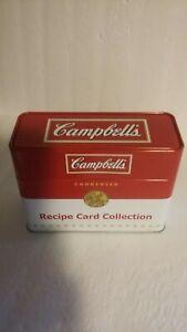 Campbell's Soup Collectible Tin Souper Recipes Vintage Recipe Card Box w/Recipes