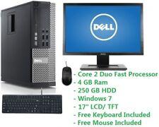 "Cheap PC Set Intel Core 2 Duo 2.0GHz 4GB Ram 250GB HDD Wifi Windows 7 17"" LCD"