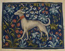 Aubusson Splendid Tapestry signed Dog Decor
