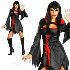 Ladies fancy dress party vampire Devil Woman halloween sexy Size 10-12 NEW