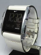 Nike Torque SI Digital Sport Watch WC0065 White Leather Band NEW BATTERY!