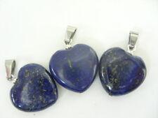 Ein edler 20 mm Lapis Lazuli Herz Ketten Anhänger mit Edelstahl Schlaufe