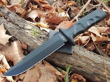 Fox Knives Taranis FKMD N690CO Black Grooved Forprene Handle Nylon Sheath Italy