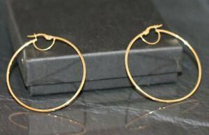 Creolen Ohrringe Ohrhänger 585er / 14k Gold (763990)