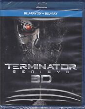Blu-Ray 3D +2D Terminator Genisys with Arnold Schwarzenegger New 2015