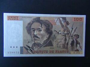 Billet Banque de France 100 Francs Delacroix Neuf N° H191 1991