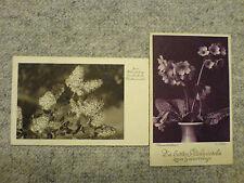 2 alte AK Glückwunschkarten gelaufen 1932