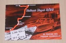 RELIANT REGAL 3/25 'Proving Run Through Scandinavia' Car Sales Brochure 1963