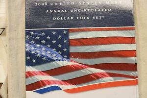 2008 - US Mint Annual Uncirculated Dollar Coin Set - American Silver Eagle(W)