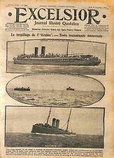 Sunk by Torpedo Ocean Liner RMS Arabia German U-boat Kaiserliche Marine WWI 1916
