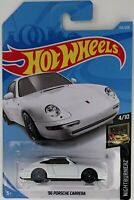 Hot Wheels 2019  '96 Porsche Carrera White 155/250 4/10 Nightburnerz Series