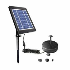 Solar Fountain Water Pump Built-in Battery LED Garden For Pond Pool 6V Tools New