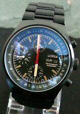 Lorsa 7750 Black PVD Restored Serviced Chronograph Watch Uhr Montre Orologio