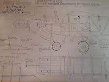 Ben Buckle Mini Super planes Set R/C balsa modelo construido
