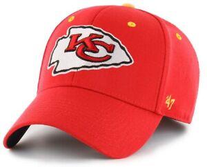 Kansas City Chiefs NFL '47 Kickoff Contender Red Hat Cap Flex Stretch Fit S/M
