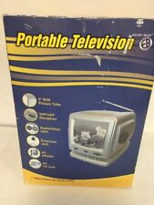 "Electro Brand Model 320 Vintage 5"" Portable Television B/W Tv Radio."