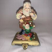 Heritage Cast Iron Hand - Painted Stocking Holder Santa Workshop Marionet