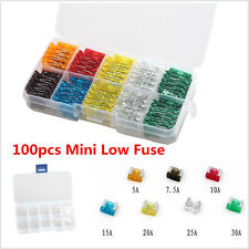 100pcs Assorted DIY Sales Car Mini Low Profile Fuse Box 5 7.5 10 15 20 25 30Amp
