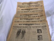 Gangters/St Paul Police Scandal/5 1934-35 Red Wing Daily Eagle MN Front Pages