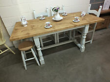 REFECTORY RECLAIMED FARMHOUSE PAINTED EXTENDING DINING TABLE BESPOKE SIZES