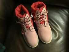 Great Timberland pink suede ladies size 6 hiking boots,one of the best made bran