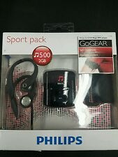 Philips SA4RGA02KFS/37 GoGEAR Raga Sport Pack MP3 Players - Black (Discon... New