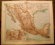Carte geographique Mexique,Salvador,Guatemala,1910,