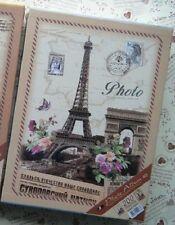 Paris Retro Vintage Travel Photo Album 200 holds 4 X 6 inches