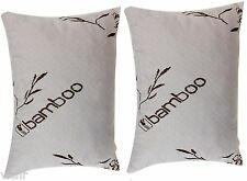 Set of 2 Queen Bamboo Cover Shredded Memory Foam Pillow,100% Washable,USA Made