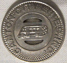 1948 Canton Ohio Transit Token Bus in Center With Slots Great For Jewelry Making