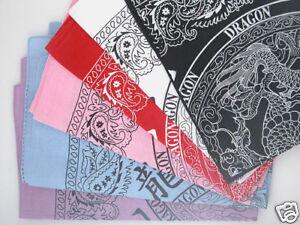 Chinese Dragon/Paisley Bandana Bandanna Scarf 4 Colours