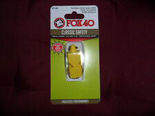 FISCHIETTO ARBITRO FISCHIO FOX 40 GIALLO ORIGINAL FOX40 YELL REFREE WHISTLE AIA