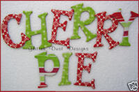 Bo Bunny *CHERRY PIE * Chipboard Letters *NEW*