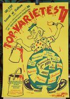 Affiche Originale CLOWN ✤ TOP-VARIÉTÉS ✤ Chambéry 1977