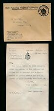 GB CHANNEL ISLANDS JERSEY OFFICIAL 1933 LETTER re SPECIAL ISSUE POSTAGE STAMPS