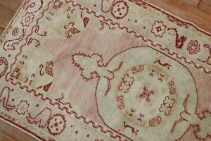 Vintage Gorgeous Turkish Oushak Rug Size 3'1''x5'8''