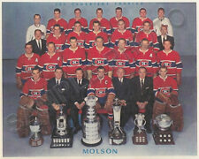 1959-60 MONTREAL CANADIENS STANLEY CUP CHAMPIONS 8X10 TEAM PHOTO #2